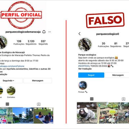 Prefeitura de Maracajá alerta sobre perfil falso em nome do Parque Ecológico