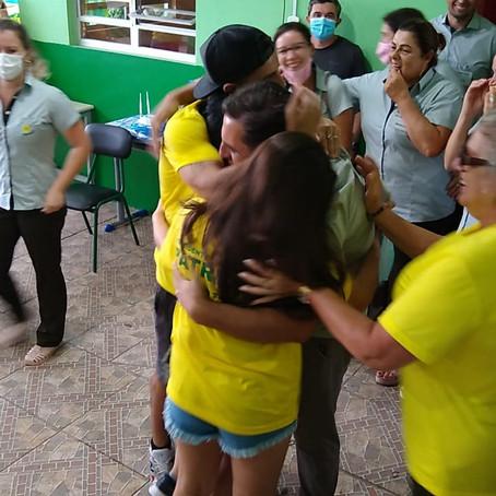A festa da vitória de Patrique e Paulinho