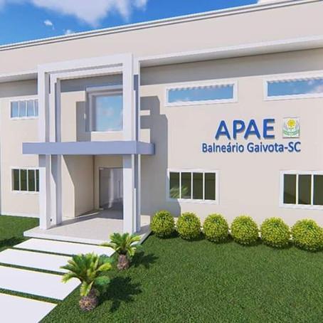Apae de Balneário Gaivota trabalha para construção de sua sede