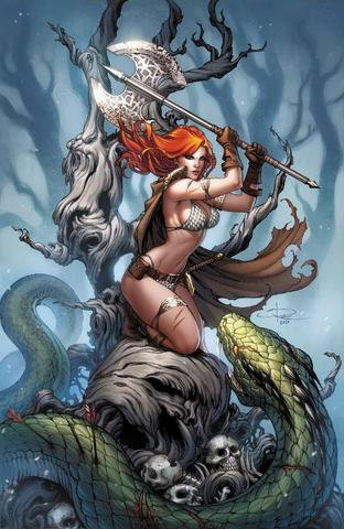 KILLING RED SONJA #1 SABINE RICH EXCLUSIVE VIRGIN VARIANT LIMITED TO 400