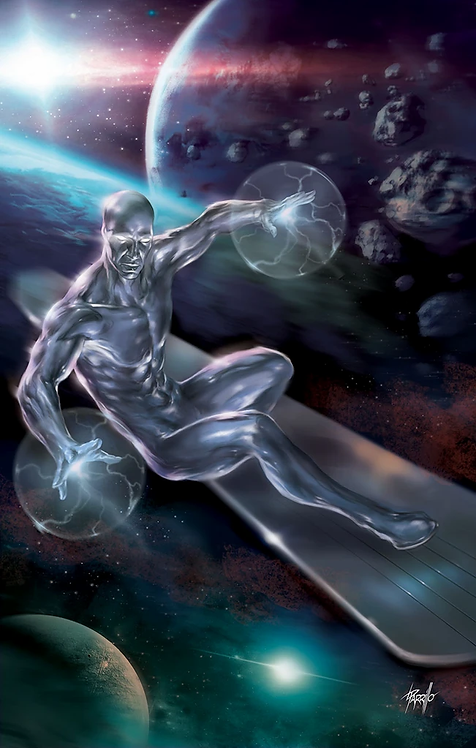 SILVER SURFER BLACK #1 PARRILLO VIRGIN VARIANT