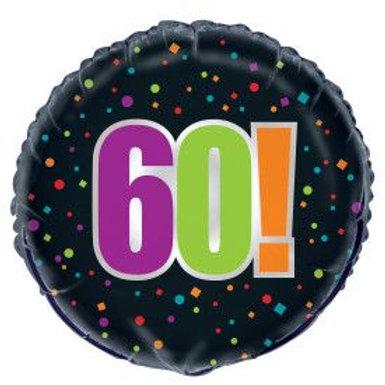 "Balloon Foil 18"" Happy Birthday 60Th!"