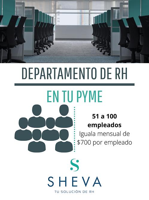 RH para 51 a 100 empleados