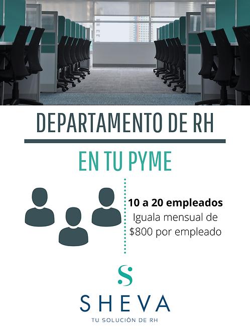 RH para 10 a 20 empleados