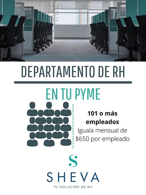 RH para 101 o más empleados