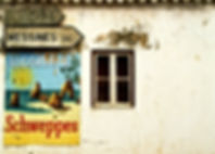 Affiche van de Reclame bij de Bouw