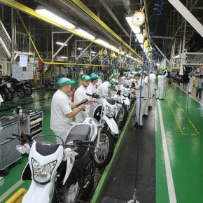 Produção de motos no Polo Industrial de Manaus cresce 30% em agosto