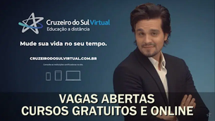 Cruzeiro do Sul oferece vagas em cursos gratuitos e online (EAD) com certificado em diversas áreas.