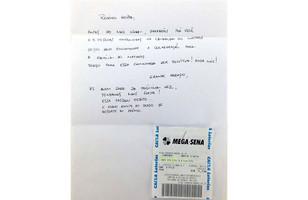 Anônimo doa bilhete premiado da Mega a menino doente