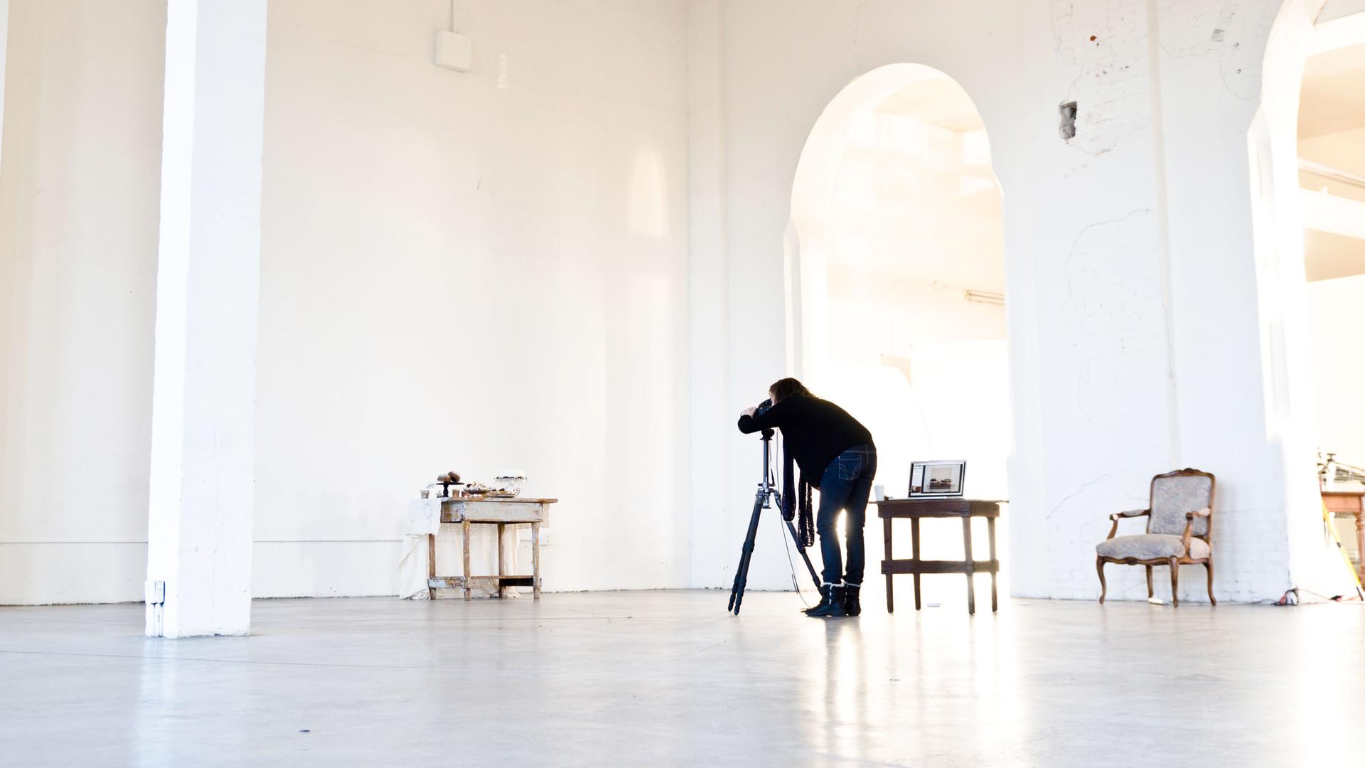 El fotógrafo en el Trabajo