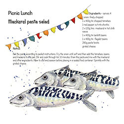 Picnic Lunch Mackeral salad