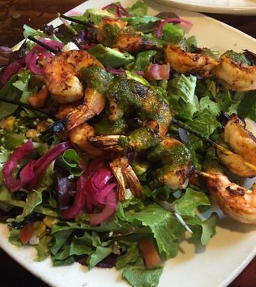 Shrimp Kabob Salad