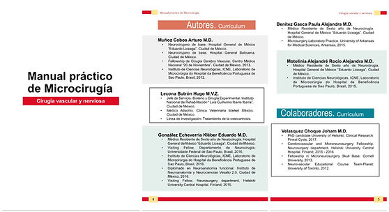 Publicaciones del Dr. Arturo Muñoz Cobos