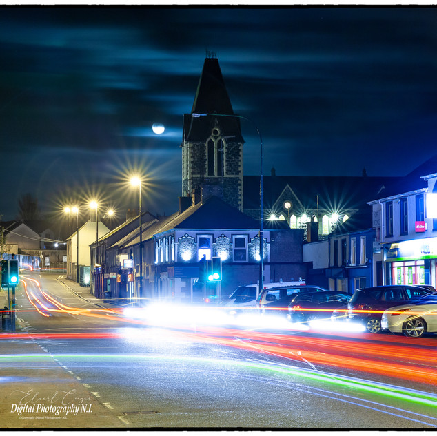 Portglenone Main Street at Night