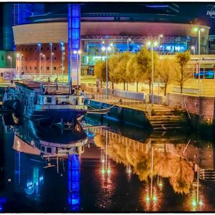 Dock-at-Waterfront-at-Night
