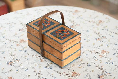 青い鉢植えのお裁縫箱