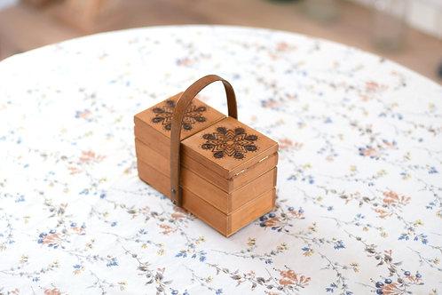 雪の結晶模様のお裁縫箱(小)Ⅰ