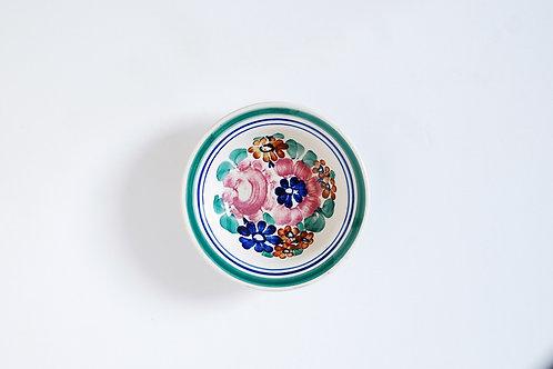 緑とピンクの小皿