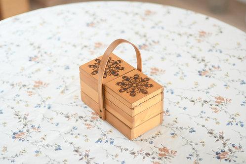 雪の結晶模様のお裁縫箱(小)Ⅱ