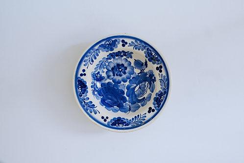 青い小鳥の小皿(中)