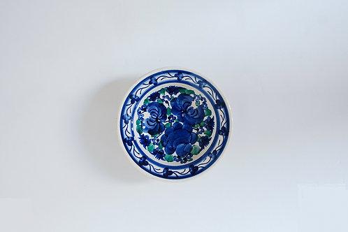 青い花の小皿