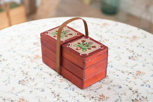 赤い花のお裁縫箱