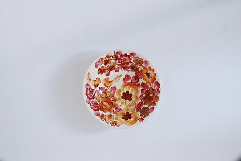小鳥の赤い小皿