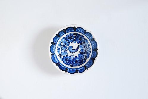 青い小鳥の小皿
