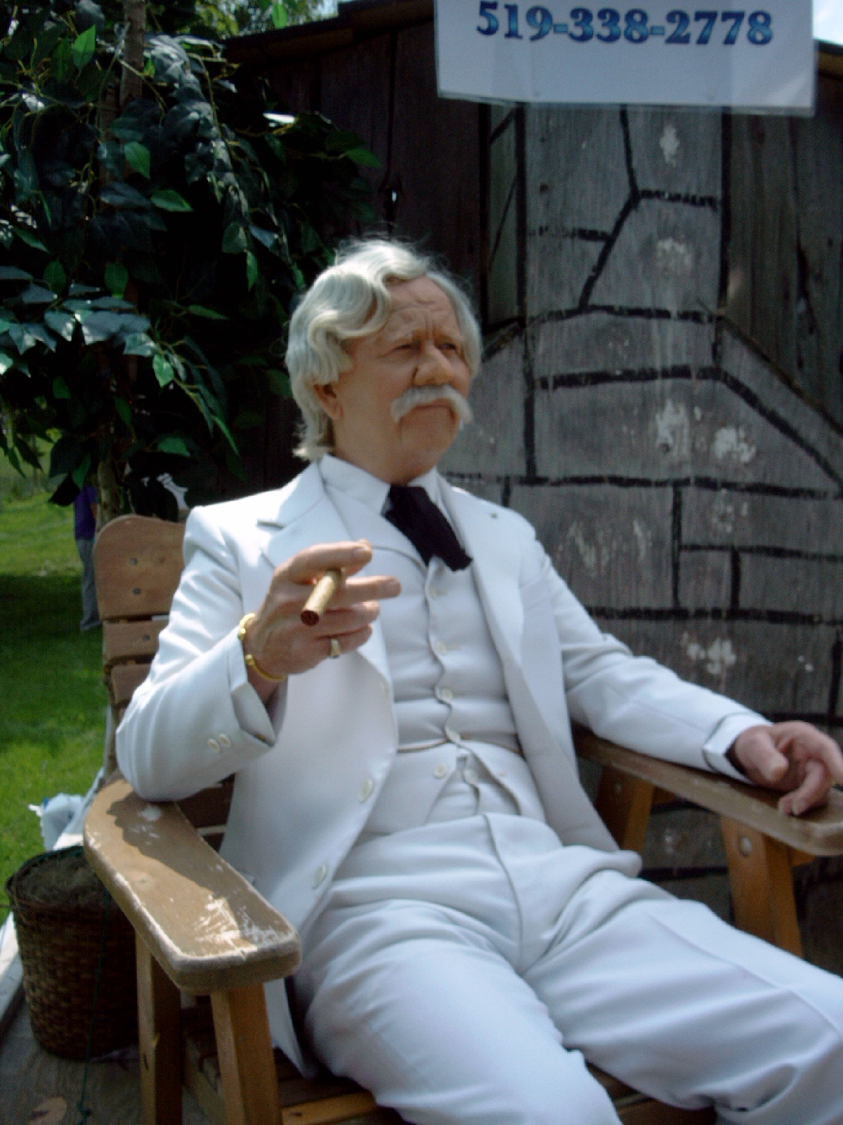 Pat Smith as Mark Twain