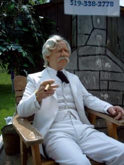 Pat Smith as Mark Twain