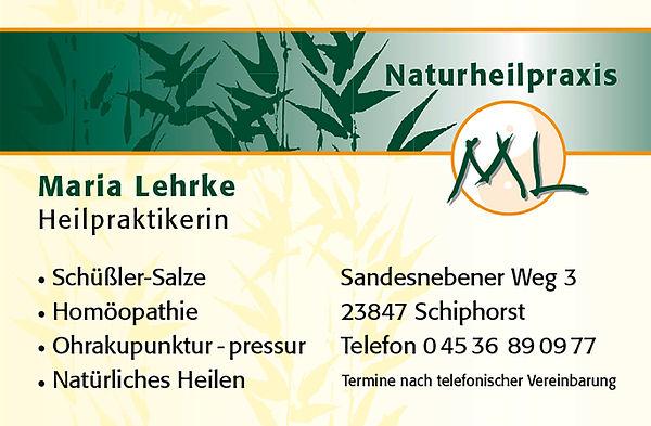 Maria Lehrke Visitenkarte