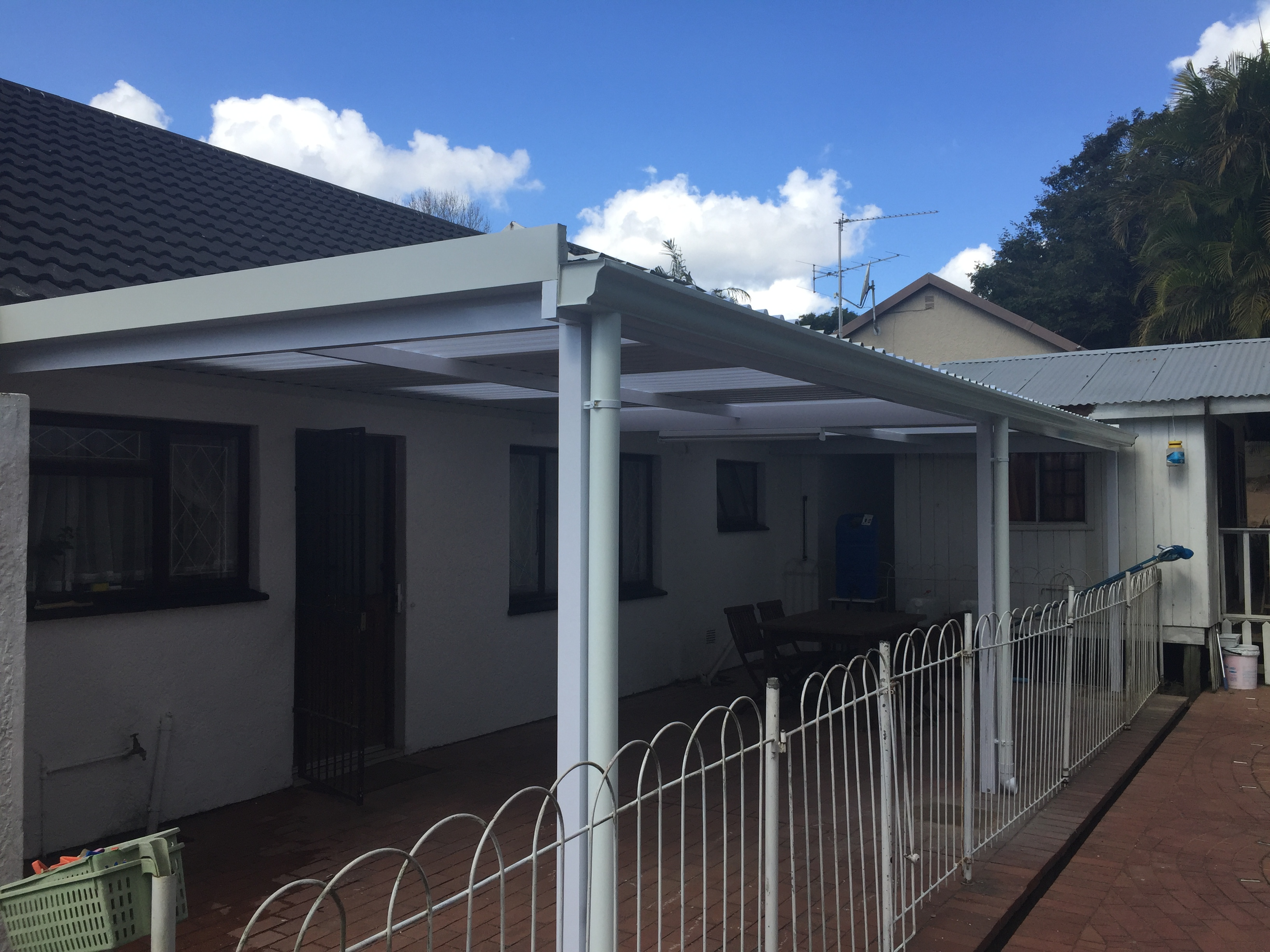 Aluminium Awning & Clear Sheet