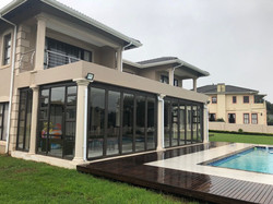 Patio Roof with Glass Doors