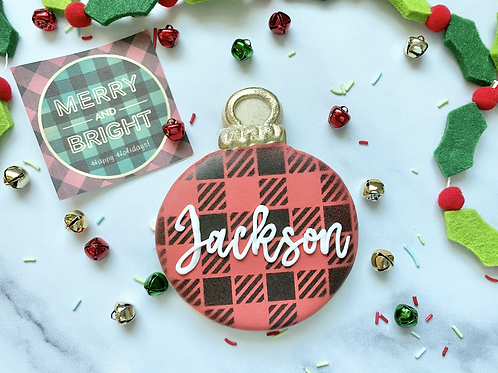 Personalized Ornament Cookie