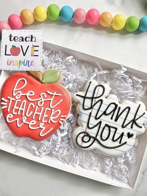 Best Teacher Ever Cookie Set