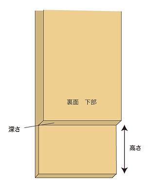 巾木のある場合のme-mori身長計設置案