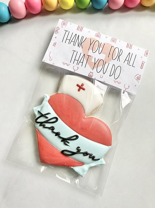 Single Nurse Thank You Cookie