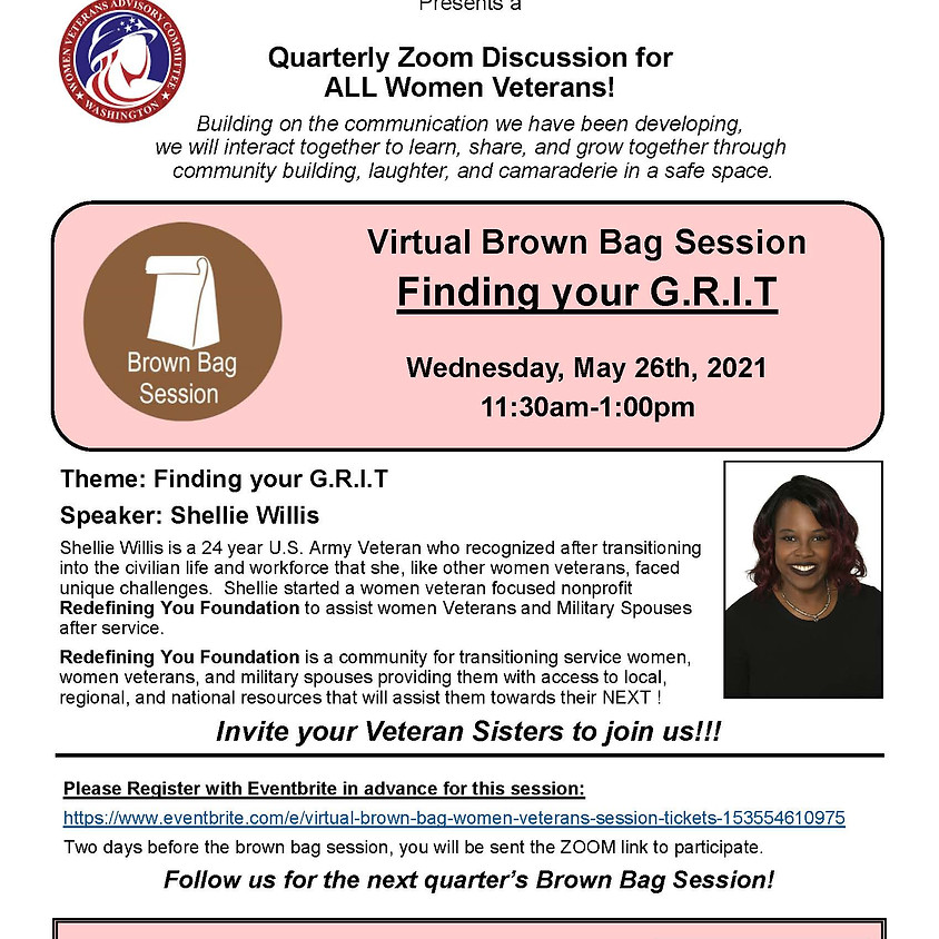 Virtual Brown Bag Session: Finding Your G.R.I.T