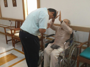 Deacons Visit Senior Priests at Clergy Home