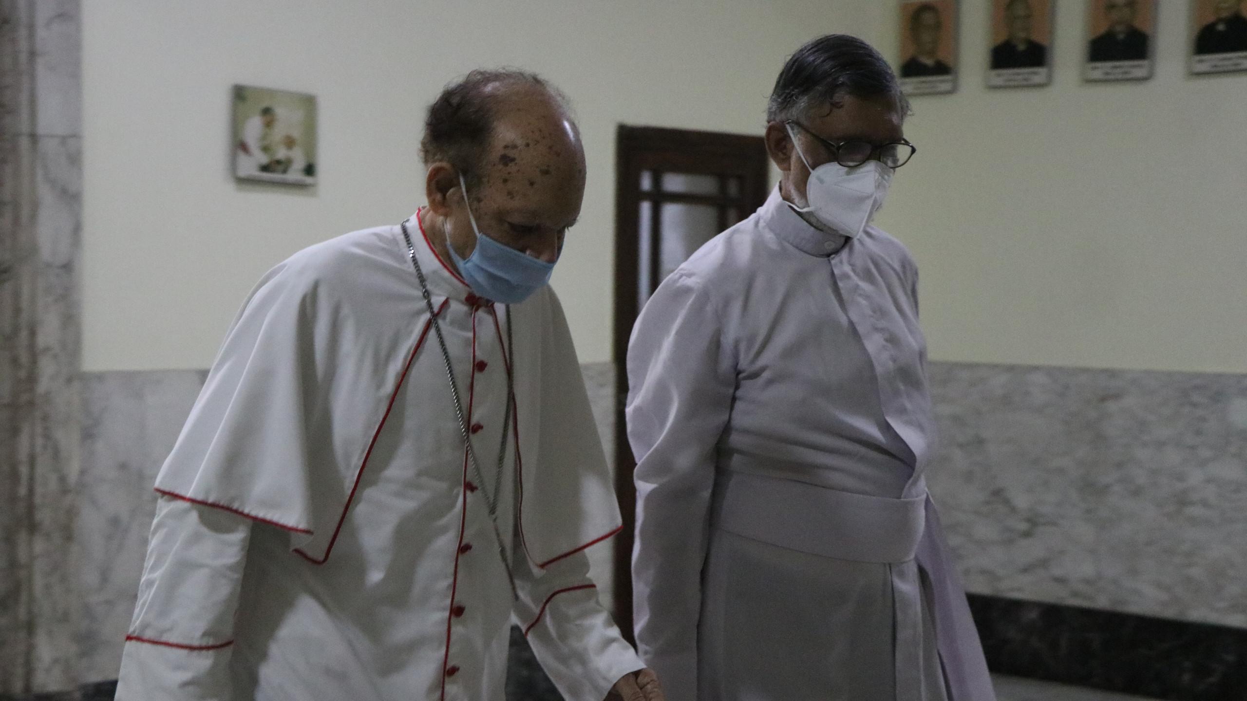 Cardinal Gracias & Fr Aniceto