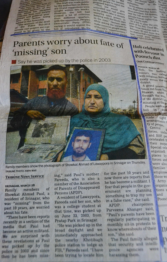 Investigating enforced disappearances in Kashmir