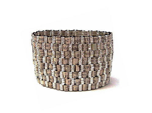 Recycled Financial Newspaper Stock Listing Bracelet