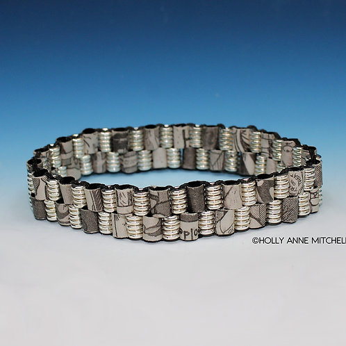 Recycled Newspaper Comic Strip Bracelet by Holly Anne Mitchell