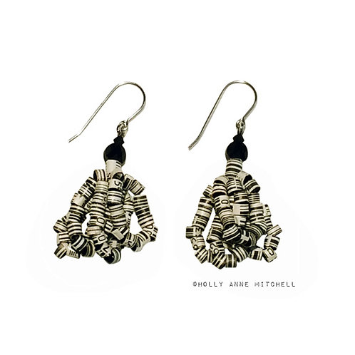 Expired Coupon UPC Bar Code Earrings by Holly Anne Mitchell