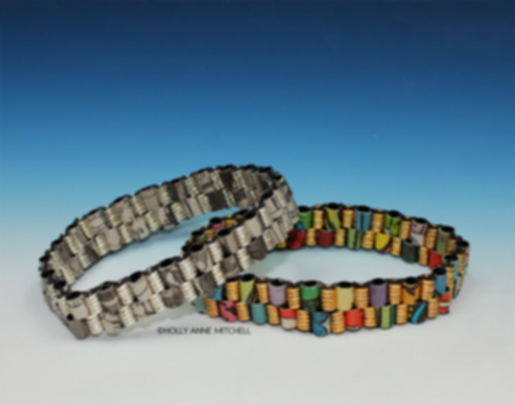 Recycled Newspaper Comic Strip Bracelets