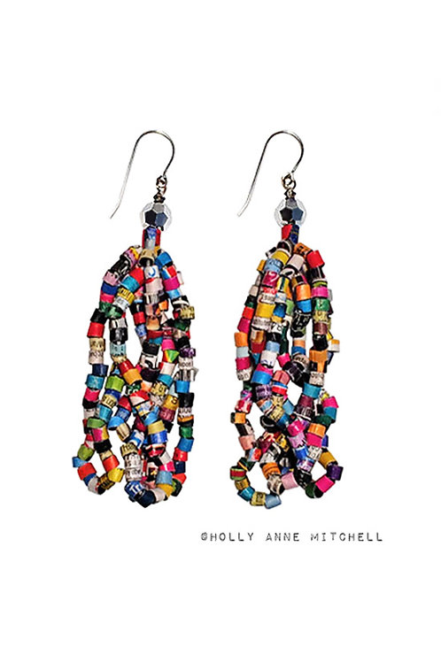 Expired Coupon Tassel Earrings by Holly Anne Mitchell