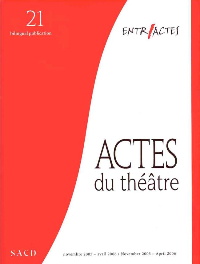 ACTES DU THÉÂTRE 2006