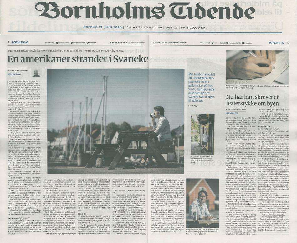"""SVANEKE"" (feature) - BORNHOLMS TIDENDE (2020)"