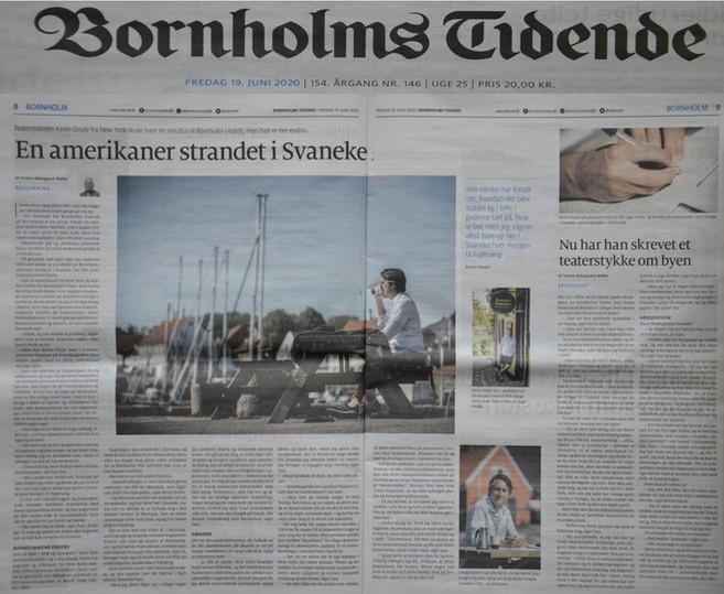 """Svaneke"" (profile article on Kevin Doyle, in Danish) - BORNHOLMS TIDENDE - Denmark (2020)"
