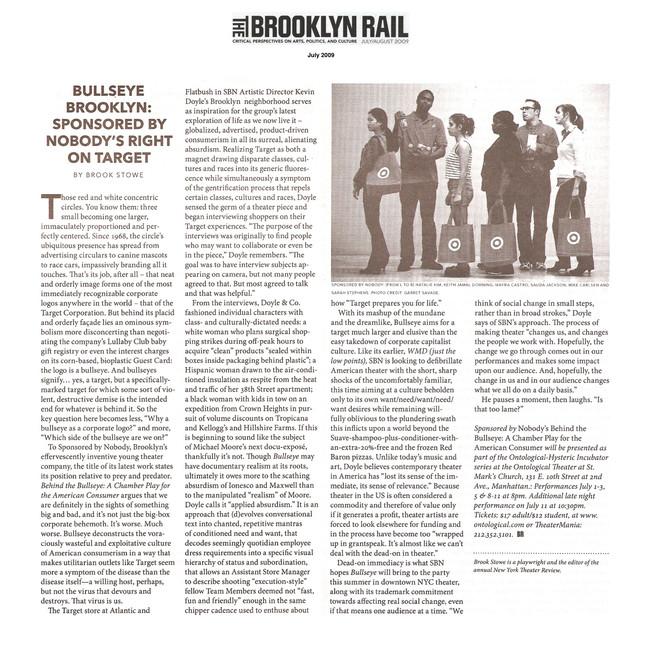 """Behind the Bullseye"" (feature) - THE BROOKLYN RAIL"